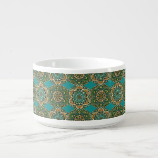 Colourful abstract ethnic floral mandala pattern bowl