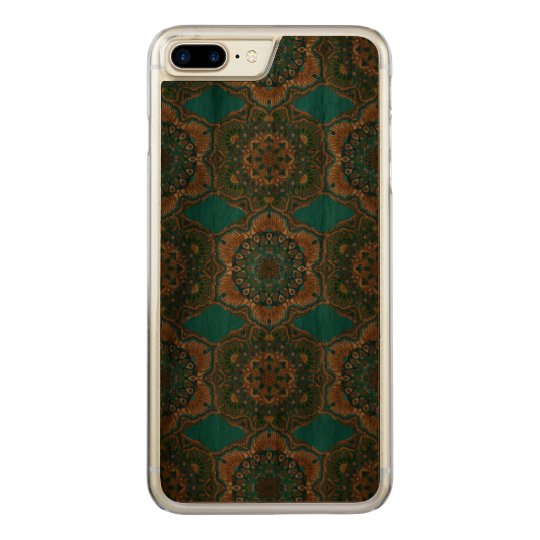Colourful abstract ethnic floral mandala pattern carved iPhone 8 plus/7 plus case