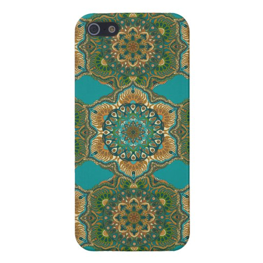 Colourful abstract ethnic floral mandala pattern case for iPhone 5/5S
