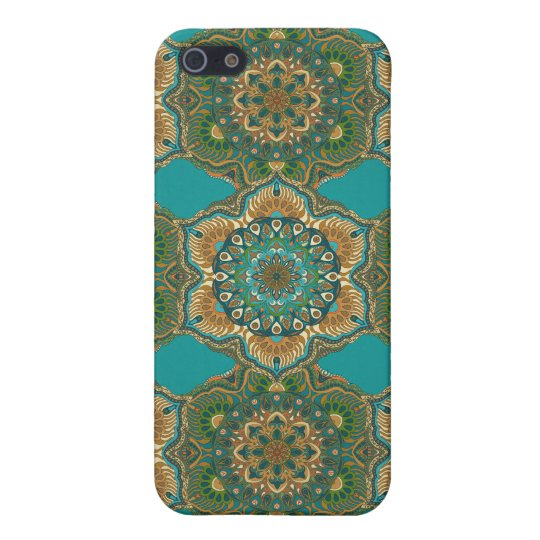 Colourful abstract ethnic floral mandala pattern case for the iPhone 5
