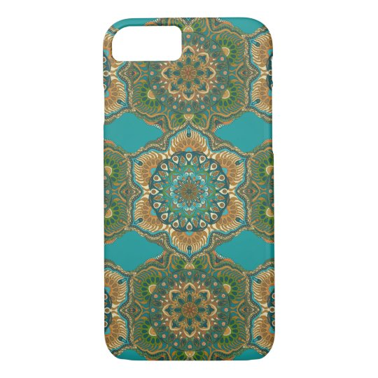 Colourful abstract ethnic floral mandala pattern Case-Mate iPhone case
