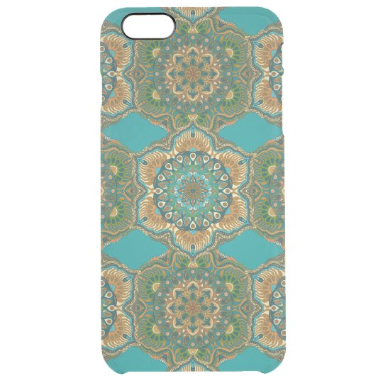 Colourful abstract ethnic floral mandala pattern clear iPhone 6 plus case
