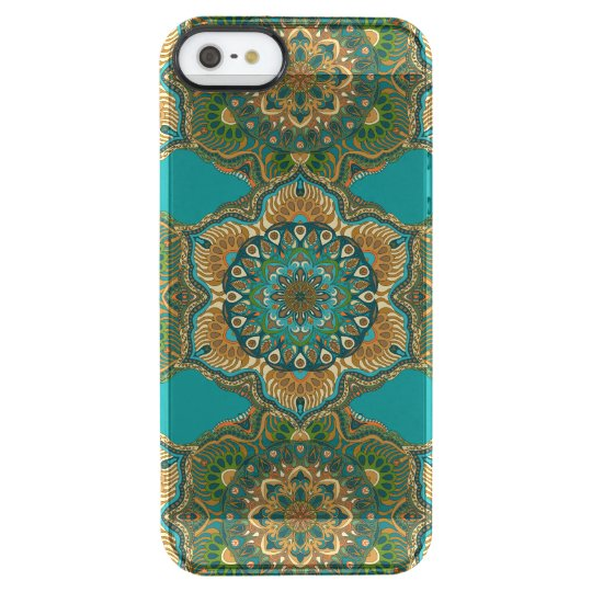 Colourful abstract ethnic floral mandala pattern clear iPhone SE/5/5s case