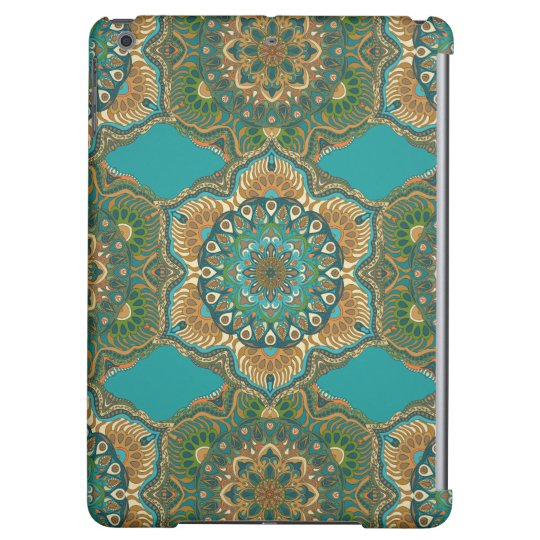 Colourful abstract ethnic floral mandala pattern cover for iPad air