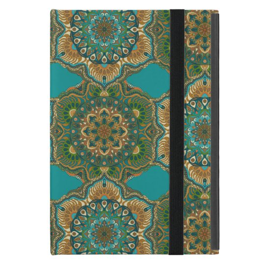 Colourful abstract ethnic floral mandala pattern cover for iPad mini