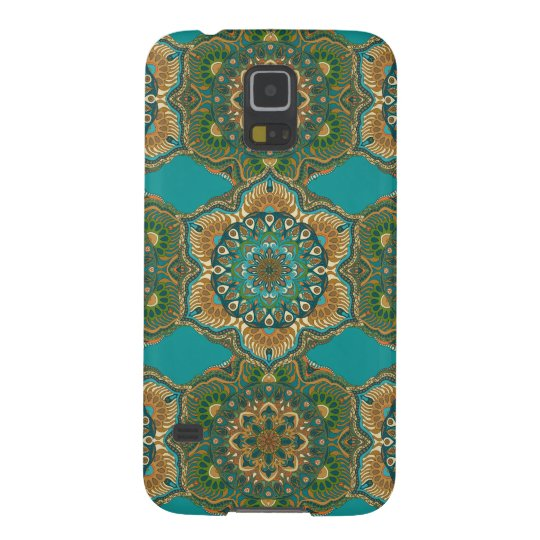 Colourful abstract ethnic floral mandala pattern galaxy s5 case