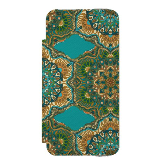 Colourful abstract ethnic floral mandala pattern incipio watson™ iPhone 5 wallet case