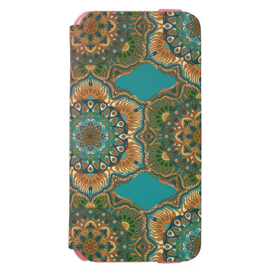 Colourful abstract ethnic floral mandala pattern incipio watson™ iPhone 6 wallet case