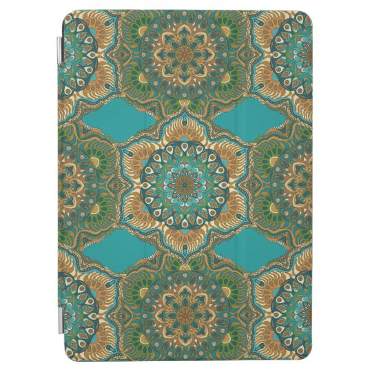 Colourful abstract ethnic floral mandala pattern iPad air cover