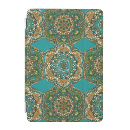 Colourful abstract ethnic floral mandala pattern iPad mini cover