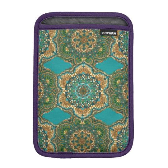 Colourful abstract ethnic floral mandala pattern iPad mini sleeve
