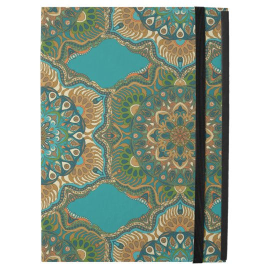 """Colourful abstract ethnic floral mandala pattern iPad pro 12.9"""" case"""