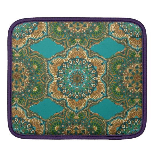 Colourful abstract ethnic floral mandala pattern iPad sleeve