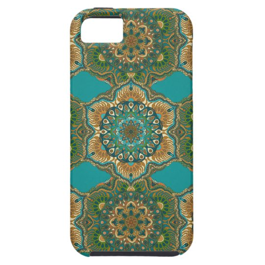 Colourful abstract ethnic floral mandala pattern iPhone 5 case