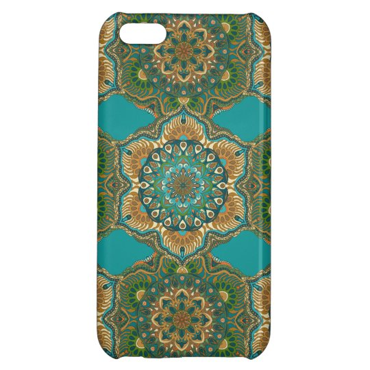 Colourful abstract ethnic floral mandala pattern iPhone 5C case