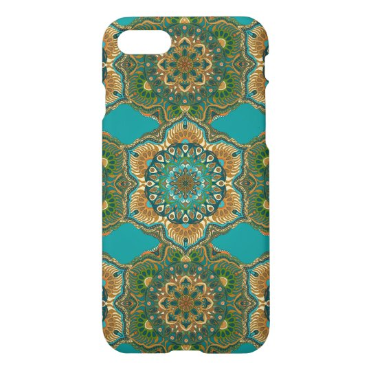 Colourful abstract ethnic floral mandala pattern iPhone 8/7 case