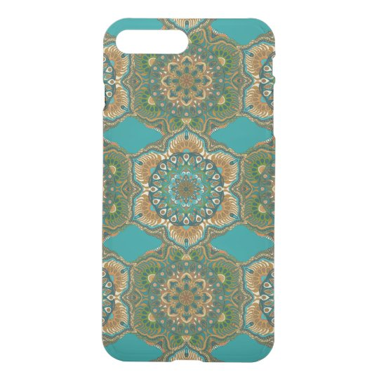 Colourful abstract ethnic floral mandala pattern iPhone 8 plus/7 plus case