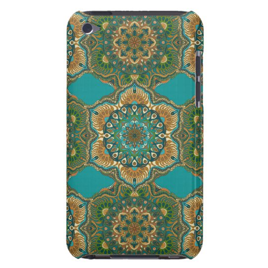 Colourful abstract ethnic floral mandala pattern iPod touch cover