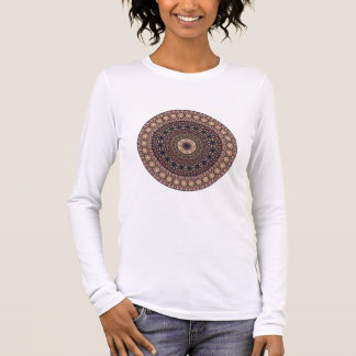 Colourful abstract ethnic floral mandala pattern long sleeve T-Shirt