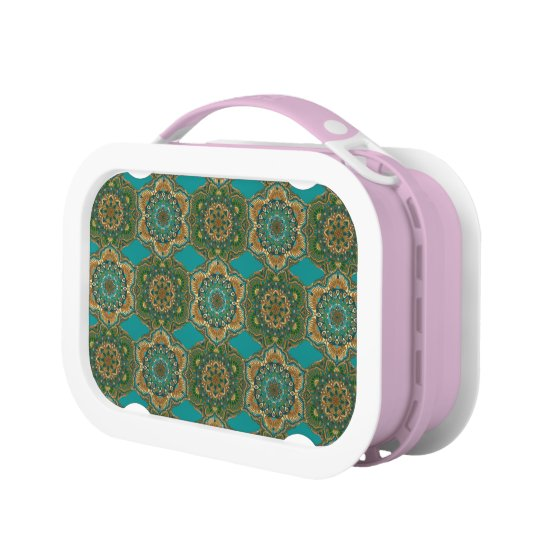 Colourful abstract ethnic floral mandala pattern lunch box