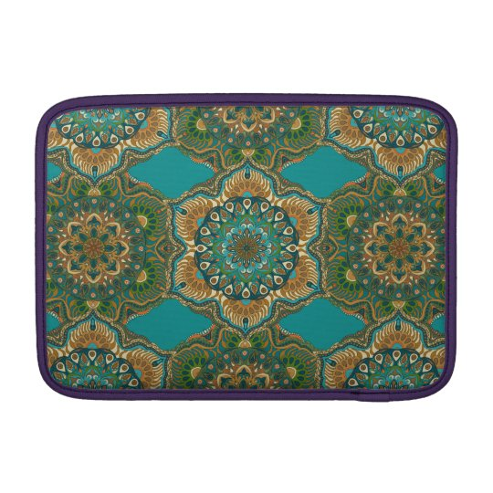 Colourful abstract ethnic floral mandala pattern MacBook sleeve