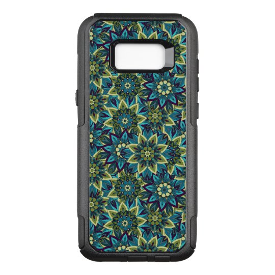 Colourful abstract ethnic floral mandala pattern OtterBox commuter samsung galaxy s8+ case