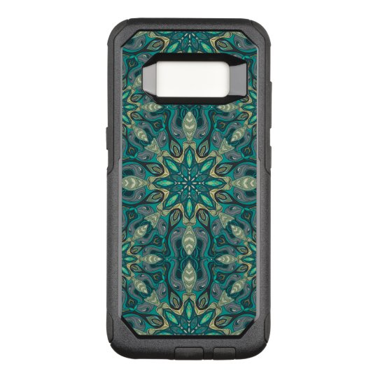 Colourful abstract ethnic floral mandala pattern OtterBox commuter samsung galaxy s8 case