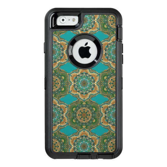 Colourful abstract ethnic floral mandala pattern OtterBox defender iPhone case
