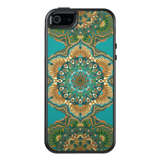 Colourful abstract ethnic floral mandala pattern OtterBox iPhone 5/5s/SE case