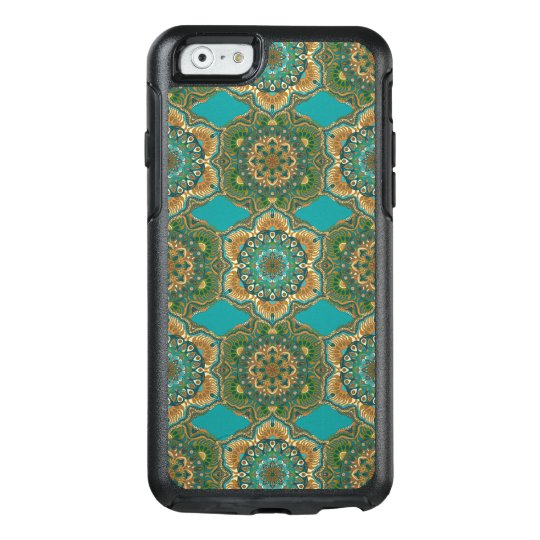 Colourful abstract ethnic floral mandala pattern OtterBox iPhone 6/6s case