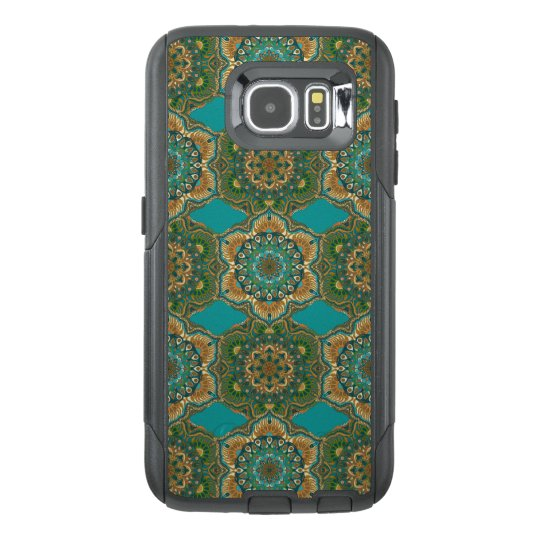 Colourful abstract ethnic floral mandala pattern OtterBox samsung galaxy s6 case