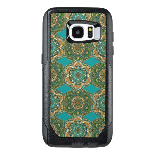 Colourful abstract ethnic floral mandala pattern OtterBox samsung galaxy s7 edge case