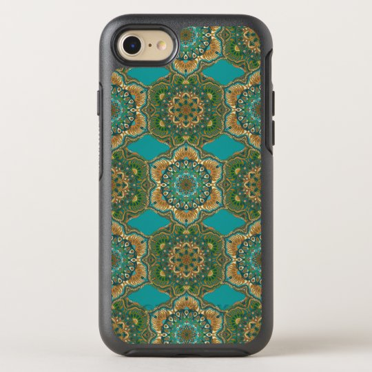 Colourful abstract ethnic floral mandala pattern OtterBox symmetry iPhone 8/7 case
