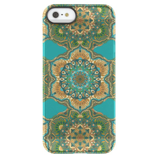 Colourful abstract ethnic floral mandala pattern permafrost® iPhone SE/5/5s case