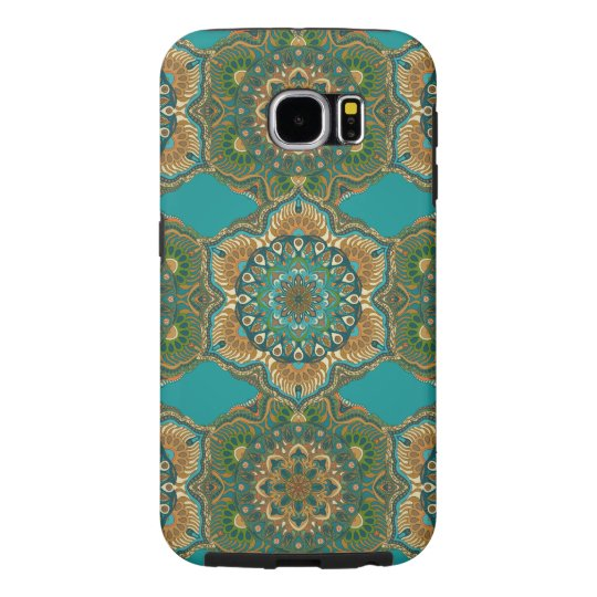 Colourful abstract ethnic floral mandala pattern samsung galaxy s6 case