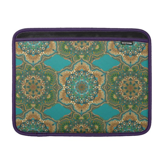 Colourful abstract ethnic floral mandala pattern sleeve for MacBook air