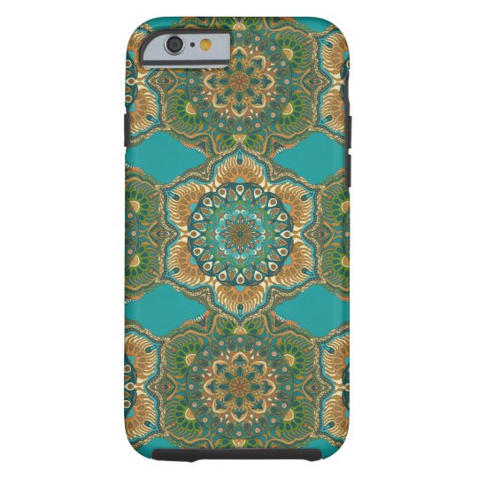 Colourful abstract ethnic floral mandala pattern tough iPhone 6 case