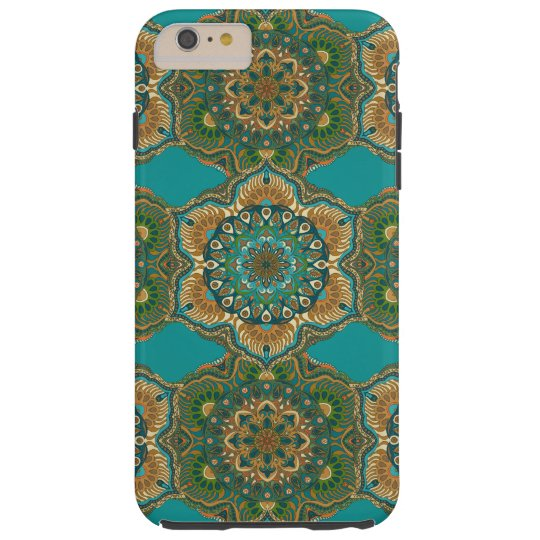 Colourful abstract ethnic floral mandala pattern tough iPhone 6 plus case