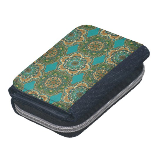 Colourful abstract ethnic floral mandala pattern wallet