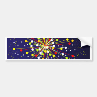 Colourful Abstract Explosion Bumper Sticker