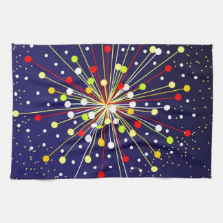 Colourful Abstract Explosion Hand Towel