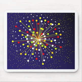 Colourful Abstract Explosion Mouse Pad