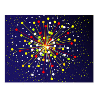 Colourful Abstract Explosion Postcard