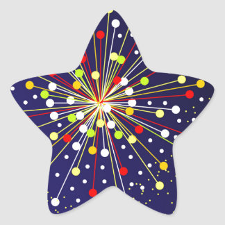Colourful Abstract Explosion Star Sticker
