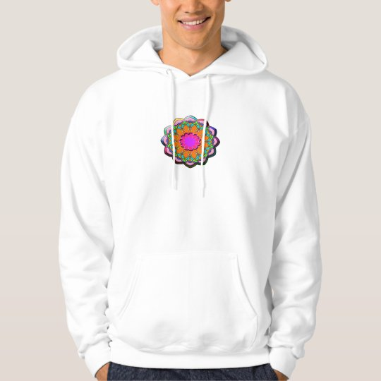 Colourful abstract flower hoodie