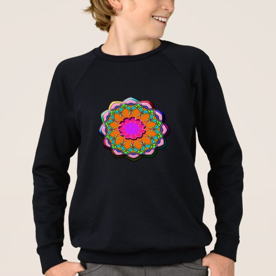 Colourful abstract flower sweatshirt