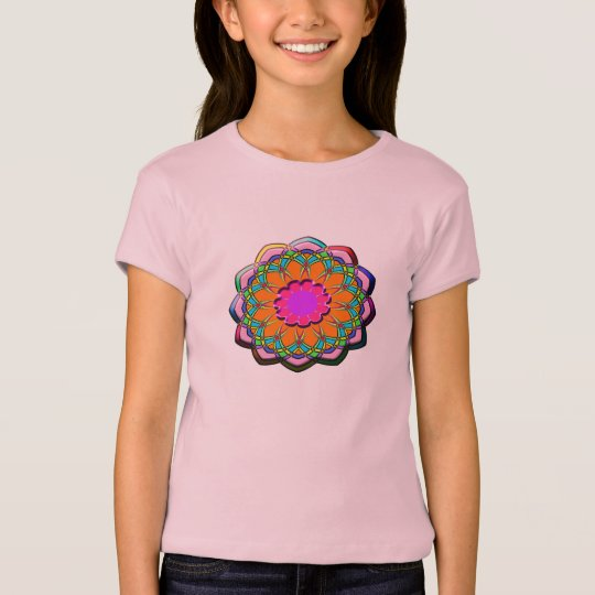 Colourful abstract flower T-Shirt