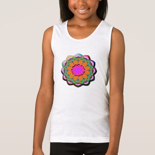 Colourful abstract flower tank top