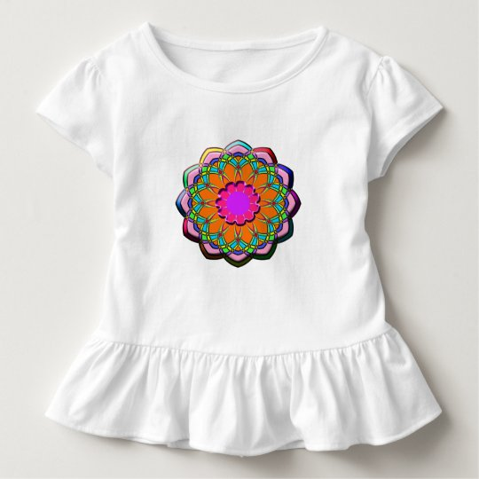Colourful abstract flower toddler t-shirt