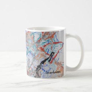 Colourful abstract fluid art painting coffee mug